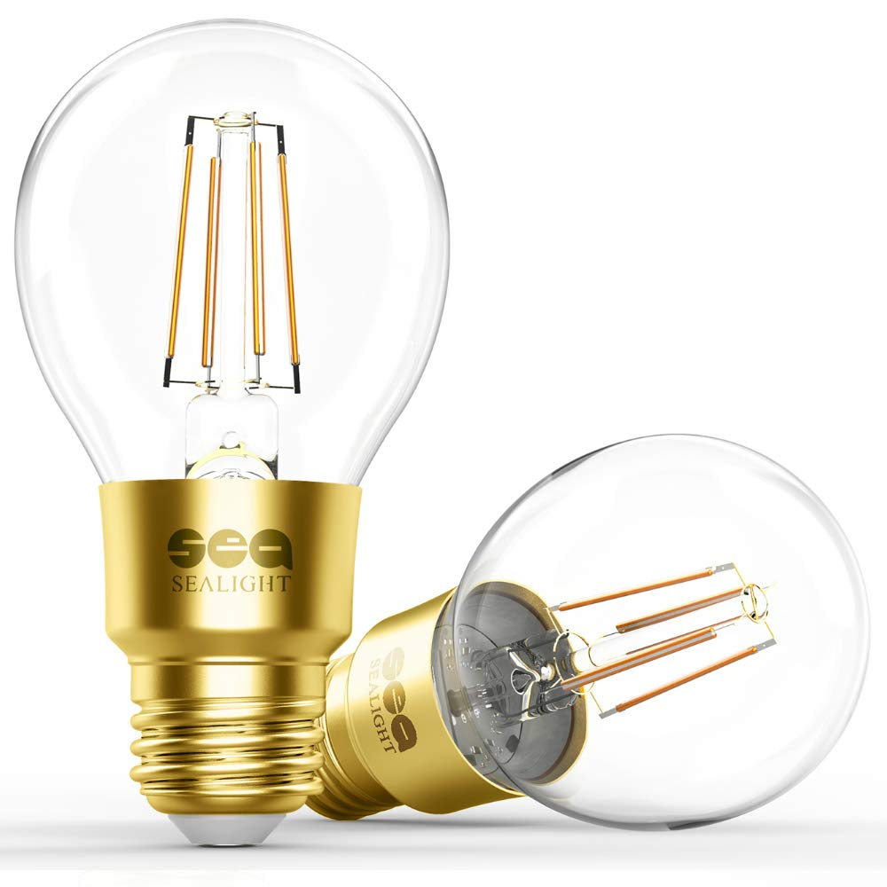 Wifi Light Bulb >> Smart Wi Fi Led Bulb Sealight Smart Light Bulb Glass Vintage Edison Light A19 Dimmable Soft White 2700k No Hub Required Compatible With Alexa