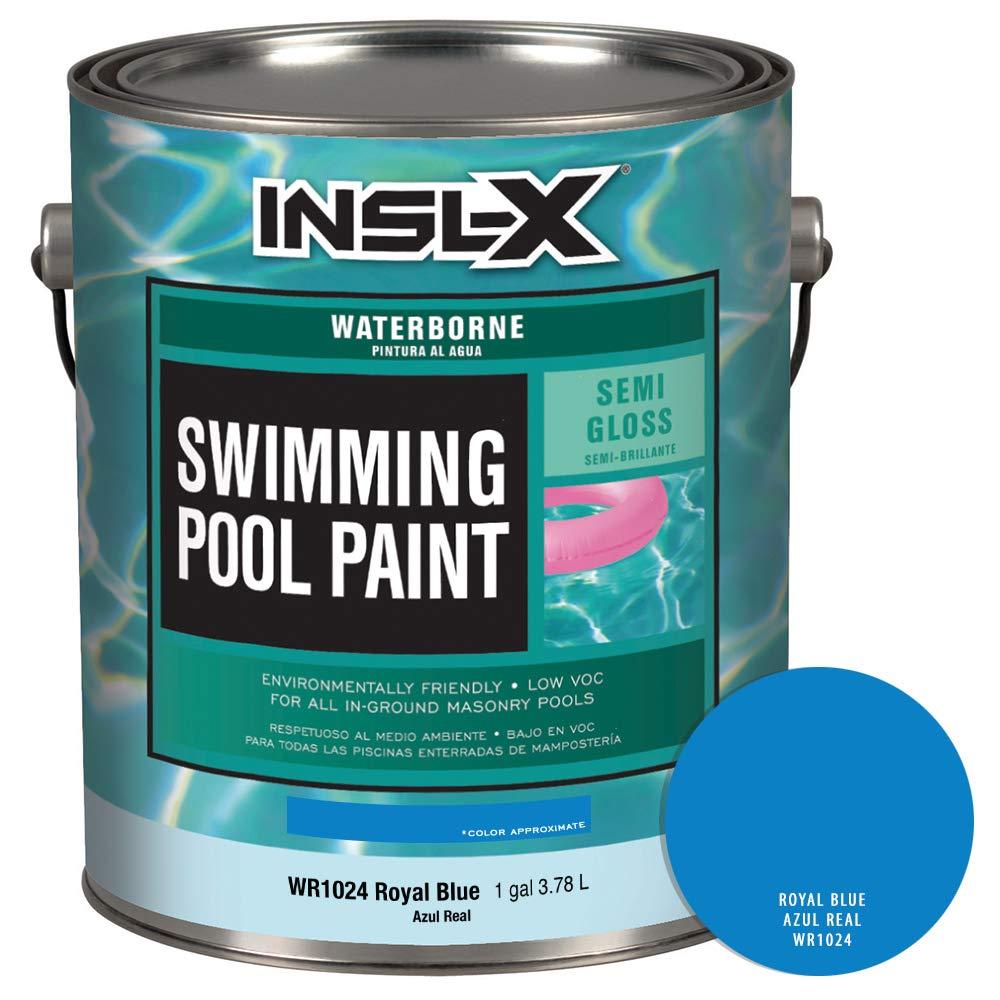 INSL-X WR102409A-01 Waterborne Semi-Gloss Pool Paint 1 Gallon Royal Blue
