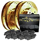 [FULL KIT] GOLD HART DRILLED SLOTTED BRAKE ROTORS AND CERAMIC PAD GHCC.44092.02