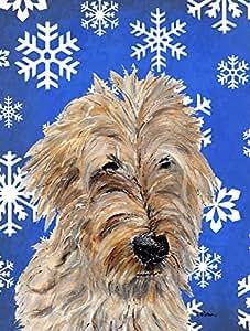 Caroline tesoros del SC9787GF Golden Doodle 2copos de nieve invierno bandera, pequeña, Multicolor