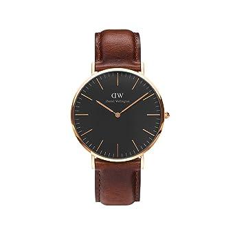 65f6463b3 Amazon.com: Daniel Wellington Classic Black St Mawes 40mm: Watches