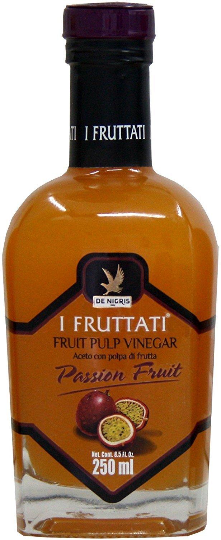 De Nigris I Fruttati Fruit Pulp Vinegar, Passion Fruit