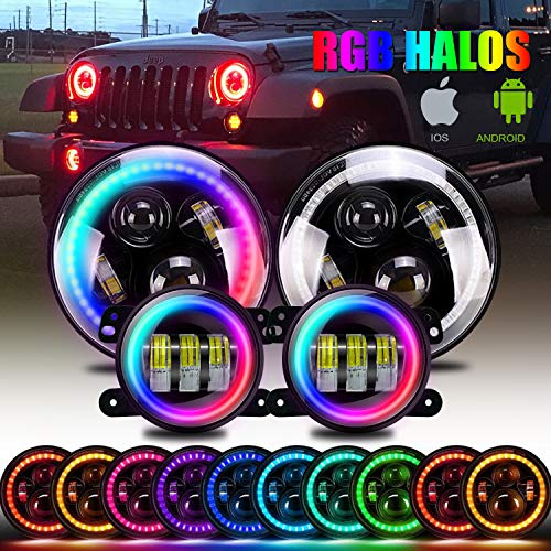 DOT Approved 7 inch LED RGB Headlight,7