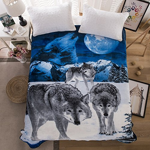 All American Collection New Super Soft Animal Printed Throw Blanket, Various Designs