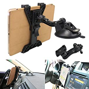 "Tablet Holder Car Air Vent Mount,OHLPRO Universal Dashboard Windshield 2-in-1 Cradle, TPU Suction Sticky Gel,for iPad/iPad Mini Samsung Galaxy Size 6""- 10.5"" All Tablets"