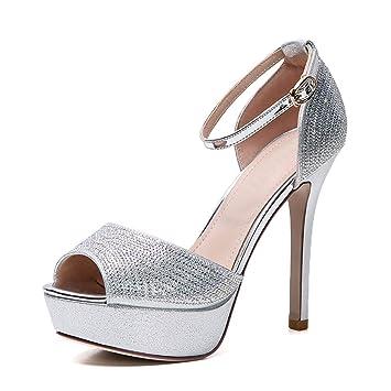 c3348c271d57b Women's High Heel Sandals New Summer Stiletto Shoes Peep Toe ...