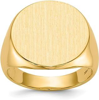 Soldi 14k Yellow Gold Men's Signet Ring