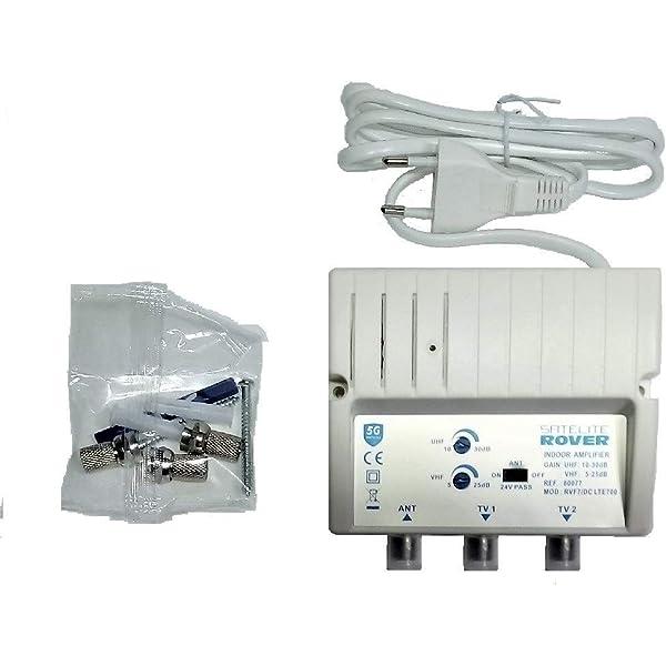 Amplificador DE Antena TV TDT para Interior ROVER 30 dB ...