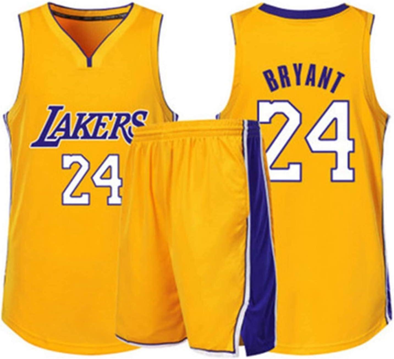 dll Basketball Jersey//V/êtements de Sport Uniforme Ensembles Lakers 24# Kobe Bryant Fans Maillots Sweatshirts de Formation for Les Enfants Adolescents gar/çon Respirant /à s/échage Rapide