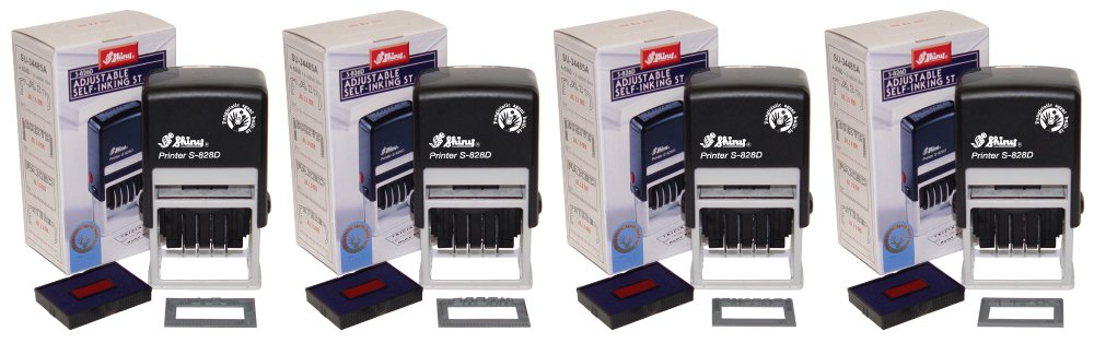 Shiny S-826D Self-Inking Message Date Stamp Office Starter Set by Shiny