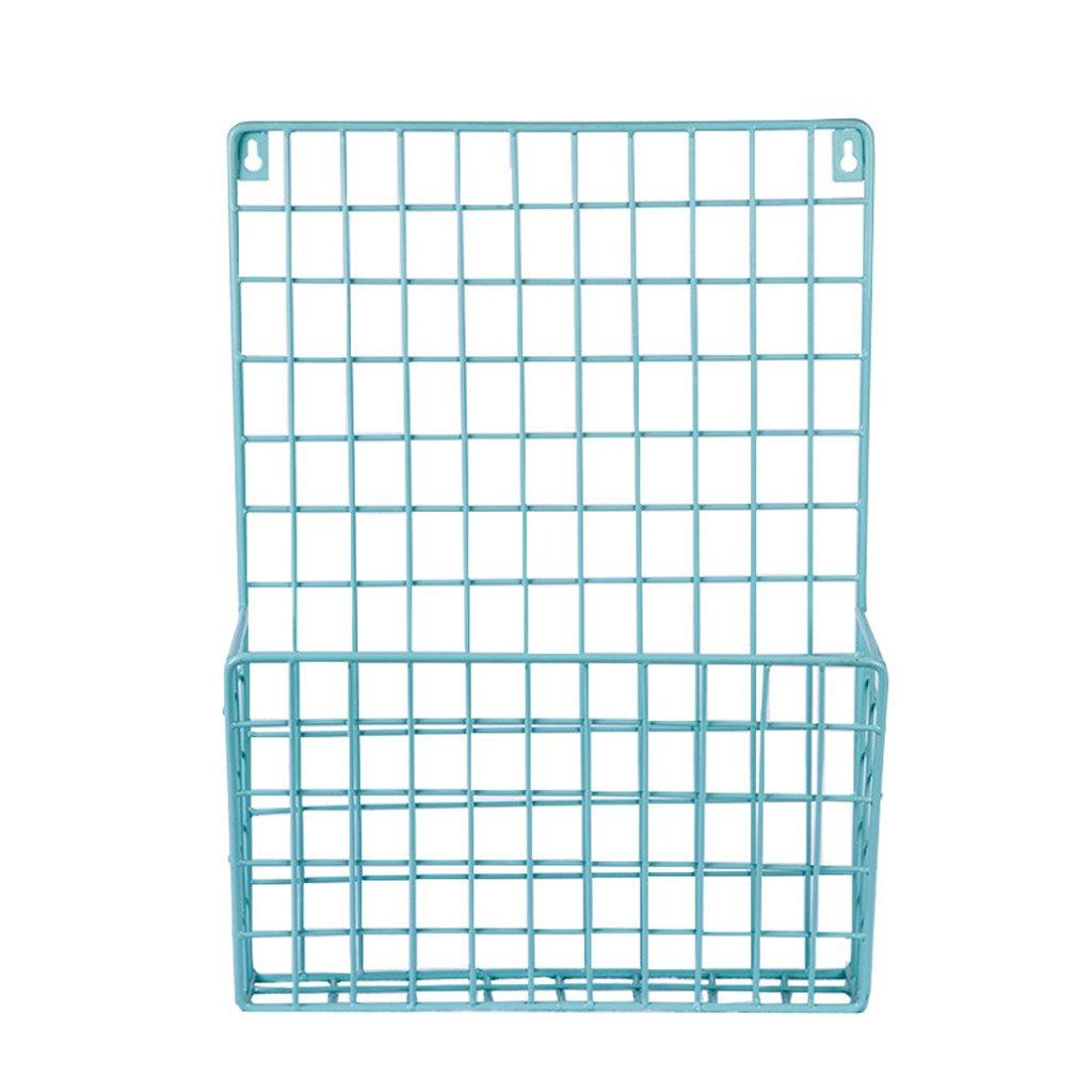 jinxin Wrought iron simple wall storage storage rack wall wall rack file iron basket