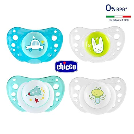 CHICCO Day & Night chupete Silicona 16-36 meses, Juedo de 4 ...
