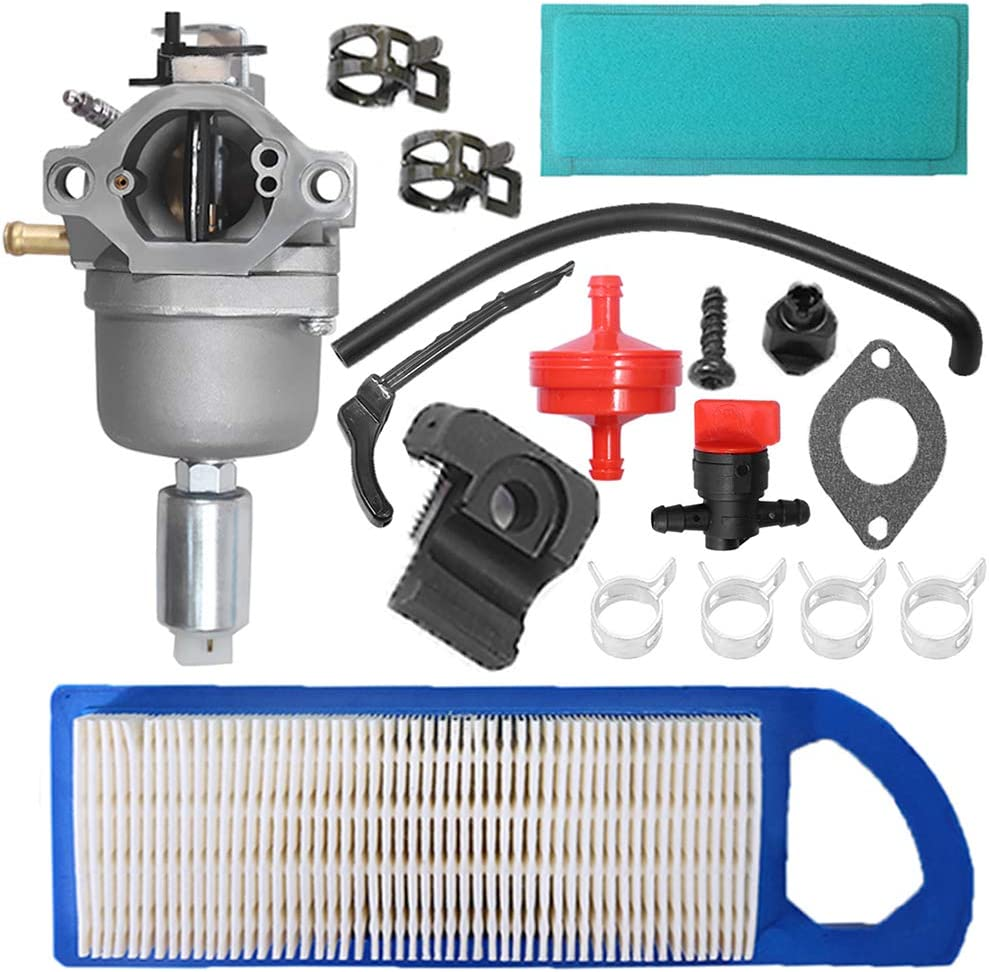 Carburetor with Air Fuel Filter Shut Off Valve Replacement for Briggs & Stratton 698620 799727 794572 791858 792358 793224 697190 697141 14hp 15hp 16hp 17hp 17.5 Hp 18hp Craftsman Lawn Tractor Mower