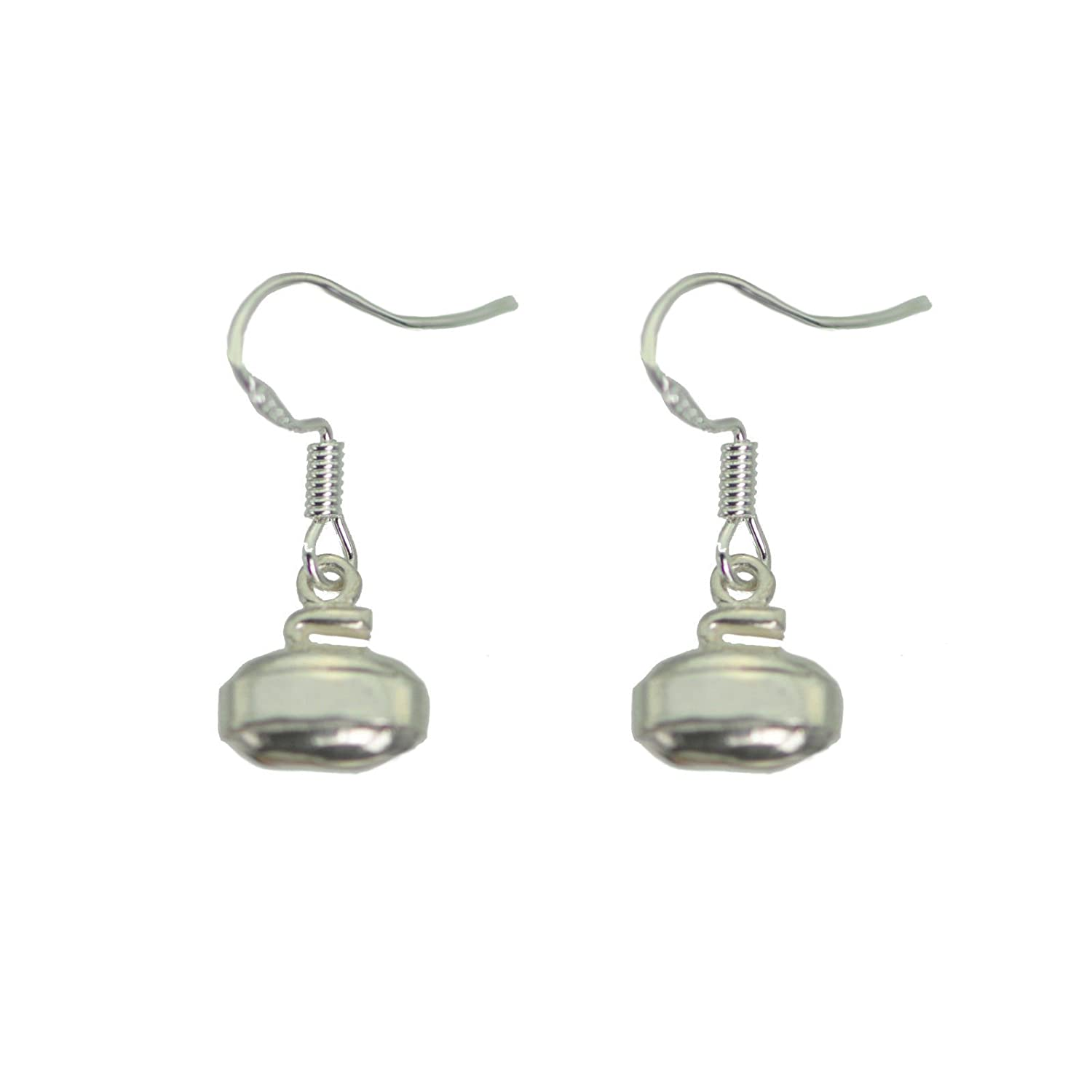 Genuine Sterling Silver 925 Jewelry Curling Rock Sport Earrings Detail New Prince of Diamonds Inc