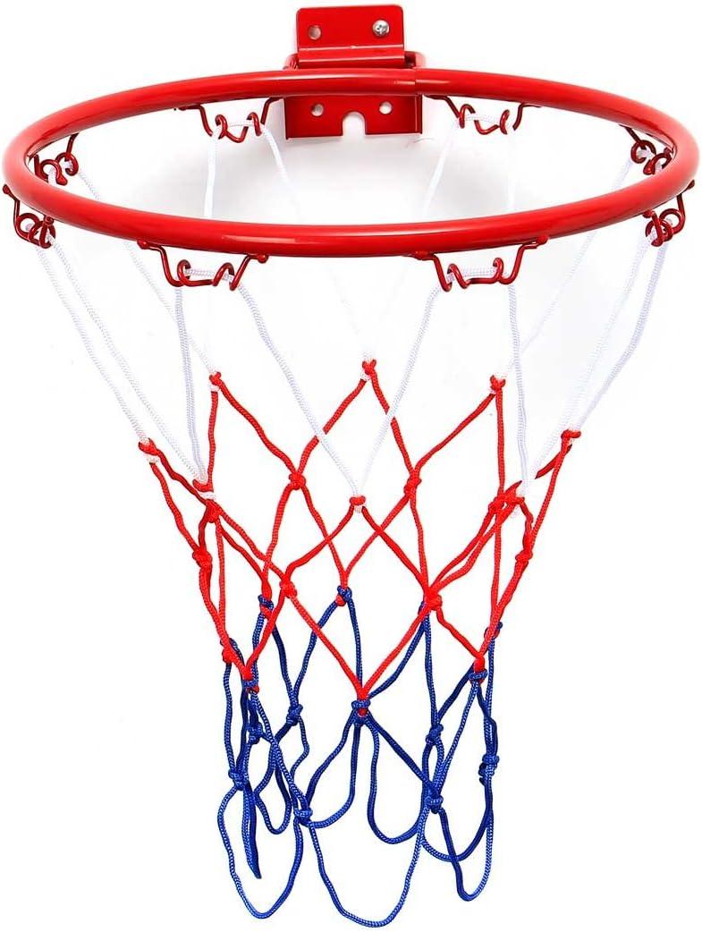 TRADERPLUS Heavy Duty Basketball Net Nylon Basketball Rim Goal Fits Standard Indoor or Outdoor Basketball Hoop, 12 Loop