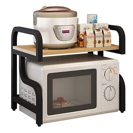 ZXL@ED Organizador de estantes de cocina Horno de microondas ...