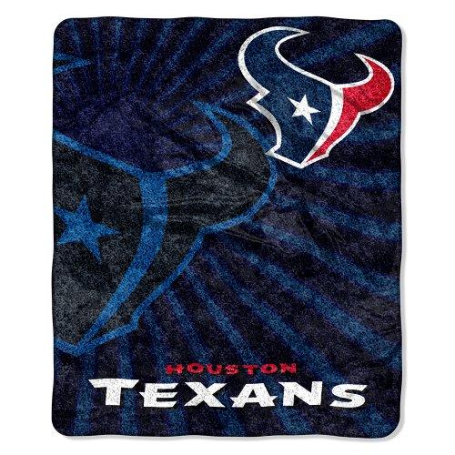 NFL Houston Texans Strobe Sherpa Throw, 50 x 60-Inch, Red