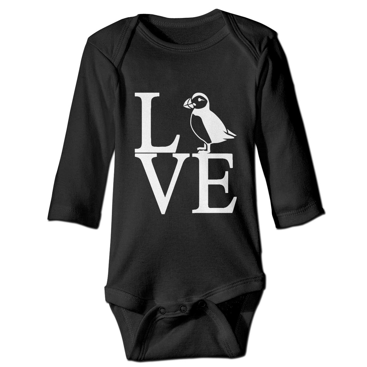Love Iceland Puffin Long Sleeve Romper Onesie Bodysuit for Baby