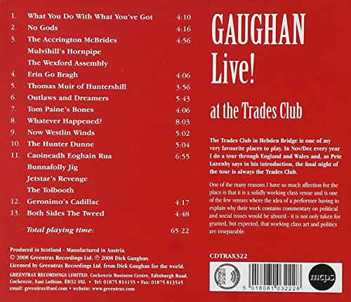 Gaughan Live! at the Traders Club by Greentrax (Image #1)