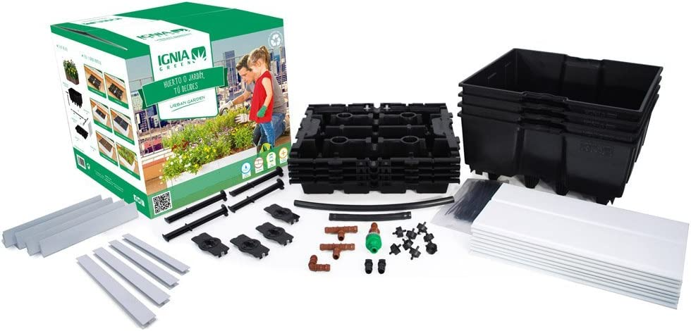 Igniagreen G25401 Kit con riego, Negro, 80.0x80.0x20.0 cm: Amazon ...