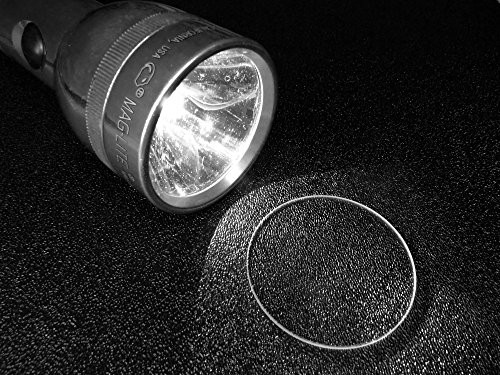 MAGLITE Flashlight lens Crystal Glass Upgrade (C & D Model) (Mag Lens)