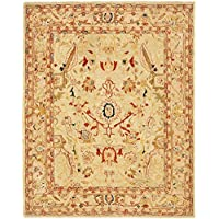 Safavieh Anatolia Collection AN514A Handmade Traditional Oriental Ivory and Beige Wool Area Rug (9 x 12)
