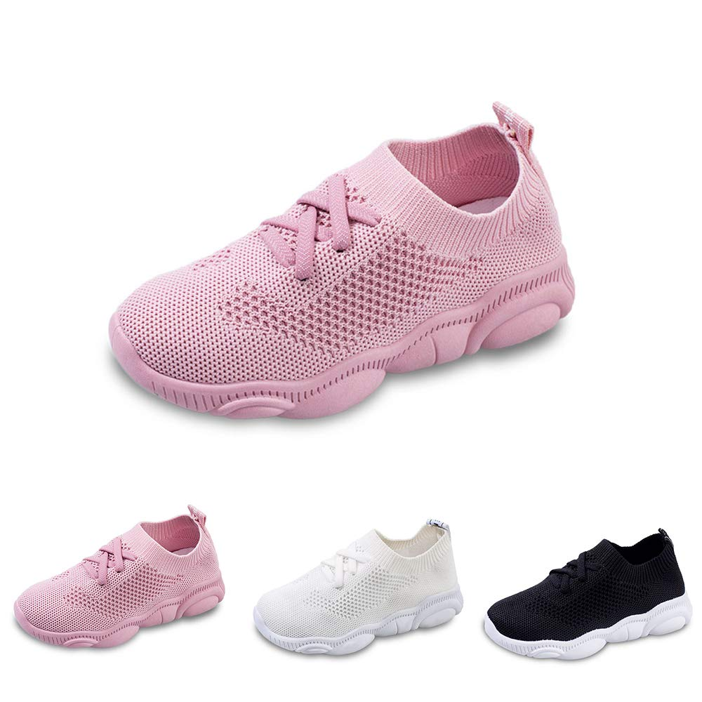 Boys Girls Premium Breathable Knit Walking Shoes Kids Lightweight Fashion Sneakers for Running Pool Beach