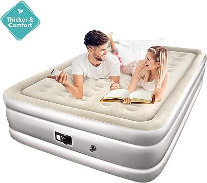 Amazon.com: Homitt Queen colchón de aire, cama de aire con ...