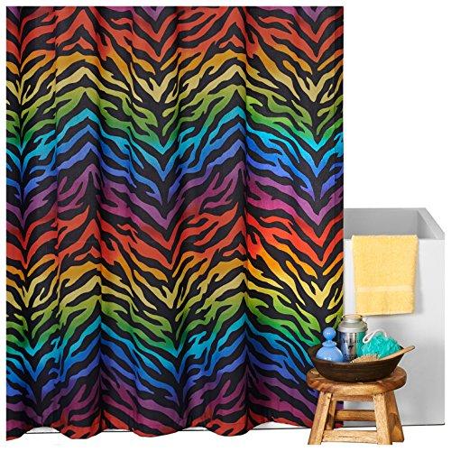 Karin Maki Zebra Shower Curtain, Rainbow (Maki Zebra Karin)