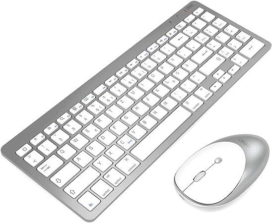 INPHIC Ultrafino Ratón y teclado Bluetooth con conexión ...