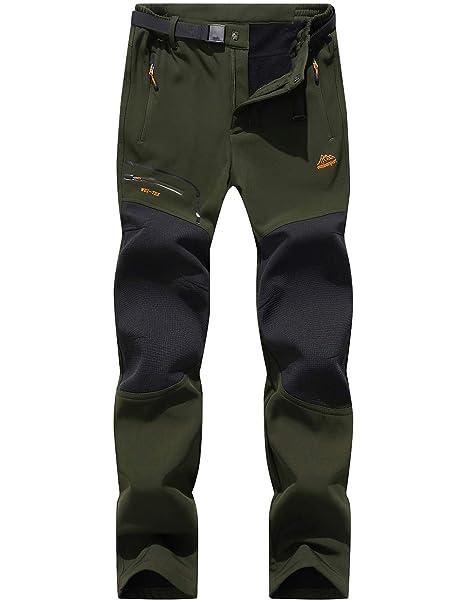 les mieux notés dernier profiter du prix de liquidation site officiel DAFENP Pantalon Randonnée Homme Outdoor Hiver Pantalon Trekking Camping  Imperméable Doublé Polaire Pantalon Montagne