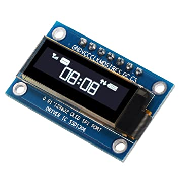 "XCSOURCE® 0.91 ""SPI Serial 128X32 Blanco OLED LCD LED Módulo de visualización para"
