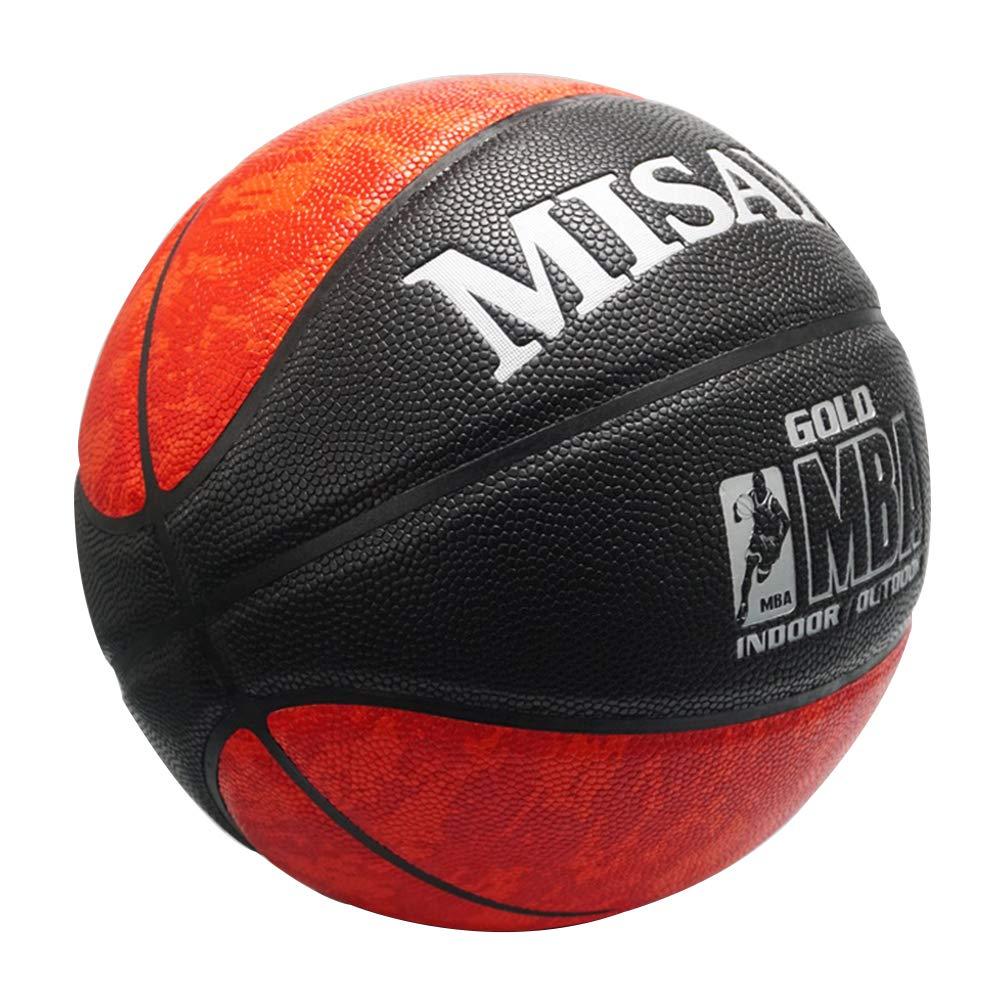 7# Fleece Student Basketball Leather Cowhide Texture Ball School ...