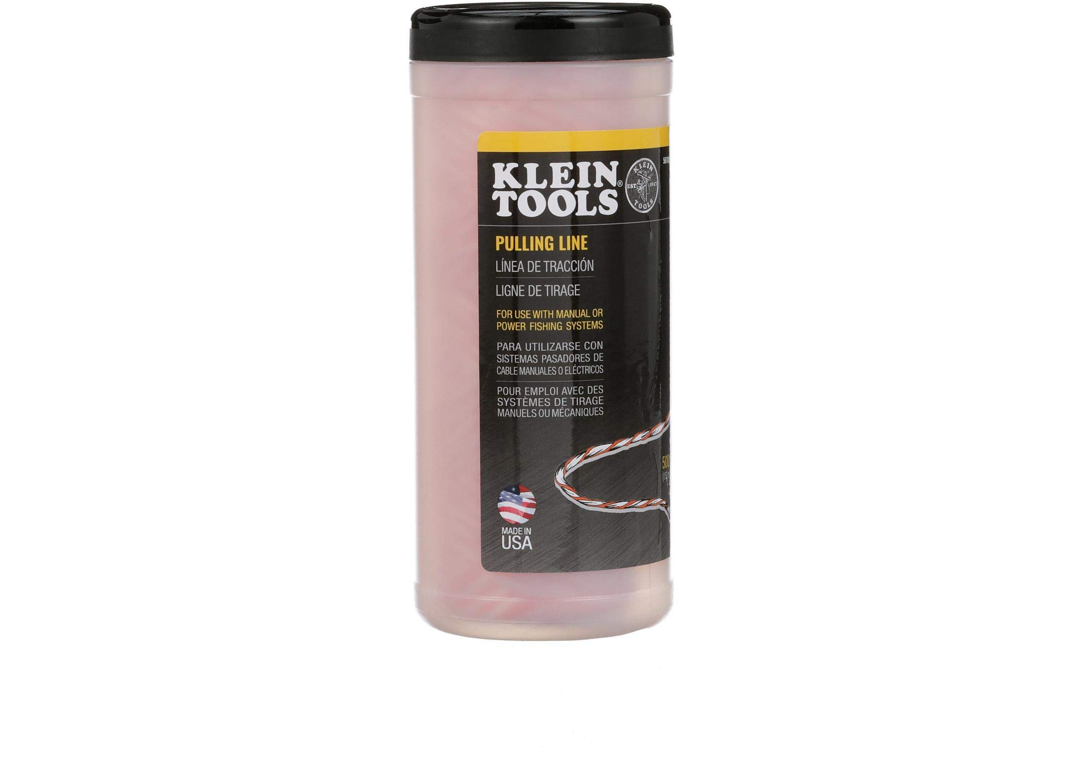 Pull Line for Light Duty Cable or Rope Pulling, 210 lb Average Breaking Strength 500-Foot Klein Tools 56108 by Klein Tools
