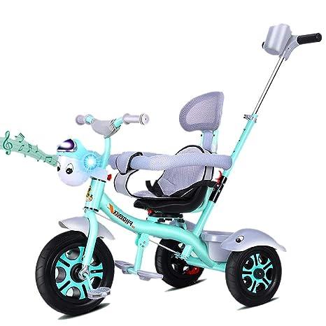GUO@ Kids Trike Music Flash Triciclo para niños 3 en 1 ...