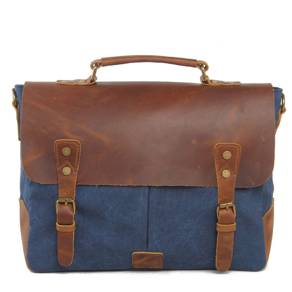 dcrywrxキャンバスメッセンジャーバッグビジネスブリーフケースノートパソコンショルダーバッグLarge Shoulder Bag  E B07D9P1VXZ