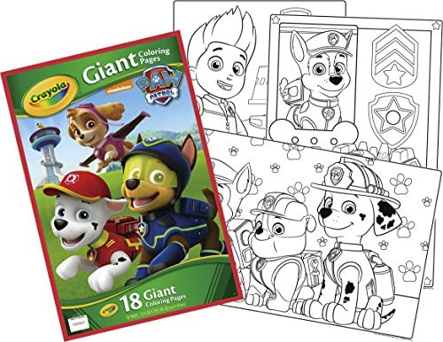 - Amazon.com: Crayola Paw Patrol Giant Coloring Pages: Toys & Games