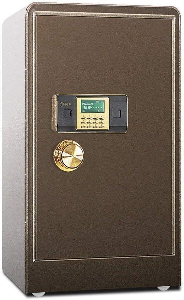 電子金庫 安全な80センチメートル高いシングルドアオフィスすべてスチール電子パスワードの安全なデジタルセキュリティの安全 盗難防止 (色 : Bronze, Size : 80x40x45cm)