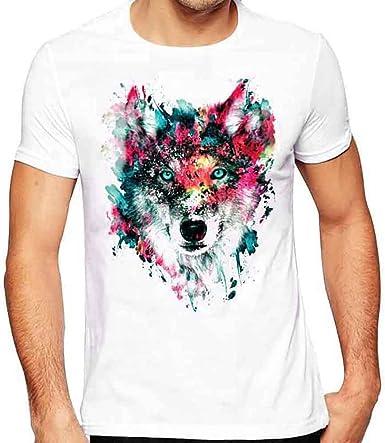 Camiseta de Hombre Vintage con Estampado de Calavera - Camisa ...