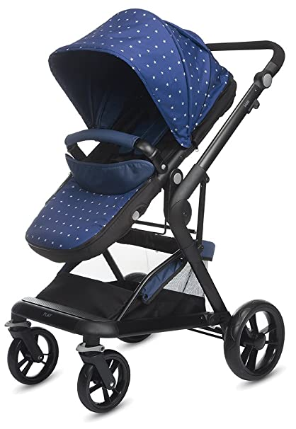 Play Indie - Silla reversible, color azul (blue stars)