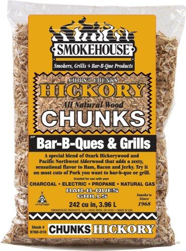Smokehouse Products Hickory Wood Chunks 1.75lb Bag, 9760-010