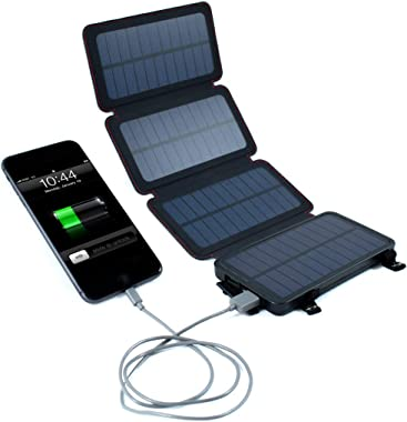 QuadraPro 5.5W Solar 4-Panel Portable Wireless Cell Phone Charger Compatible with iPhone,