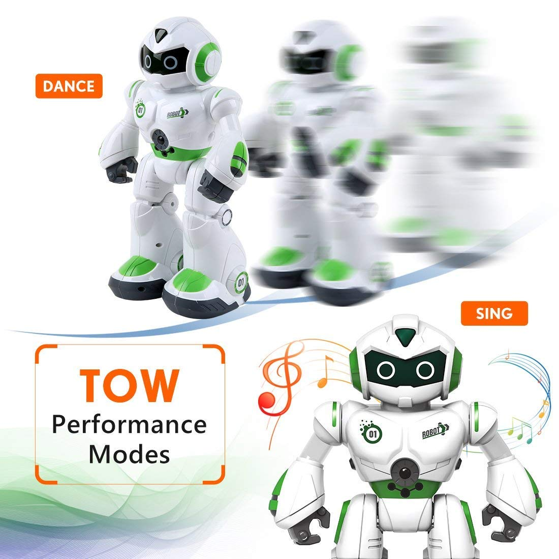 Remote Control Robot,Robot Toys,Smart Robotics for Kids with Gesture Sense, Interactive Walking Singing Dancing Speaking,with LED Light, Shoots Missiles, Talking, Walking, Singing, Educational Toys by Locke Teddy (Image #6)