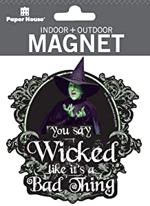"""Paper House Productions 4"""" x 3.5"""" Die-Cut Wizard of Oz Wicked Witch Magnet for Cars, Refrigerators and Lockers"""