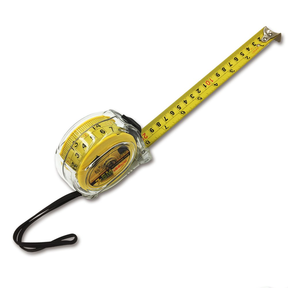 25Ft Measuring Tape, Steel Ruler with Transparent Protective Shell, Inch/Metric Double-sided Measurement Set, Ideal Measuring Tool for Construction,Decoration, Electrician, Design, School and Home by BESTIRTOOL (Image #3)
