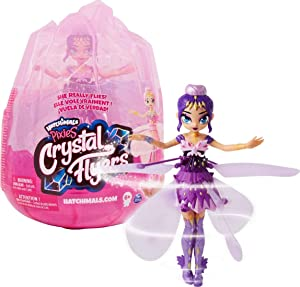 Hatchimals Pixies, Crystal Flyers Purple Magical Flying Pixie Toy, for Kids Aged 6 and up