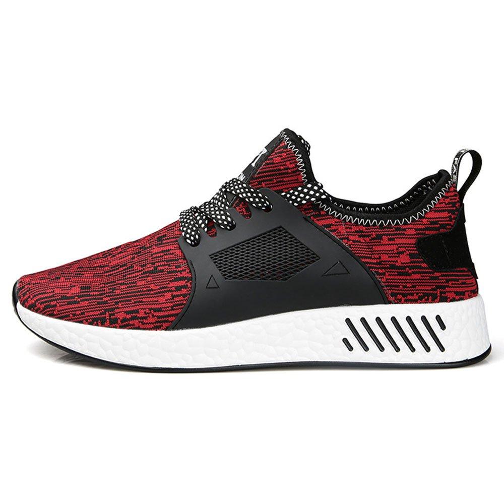FLYMD Running Shoes Calzado Deportivo, Calzado Deportivo de Primavera y Desgaste de Primavera, Zapatos de Hombre (24.5-27.5cm) Sneakers for Men (Color : Rojo, Tamaño : 42 EU) 42 EU|Rojo