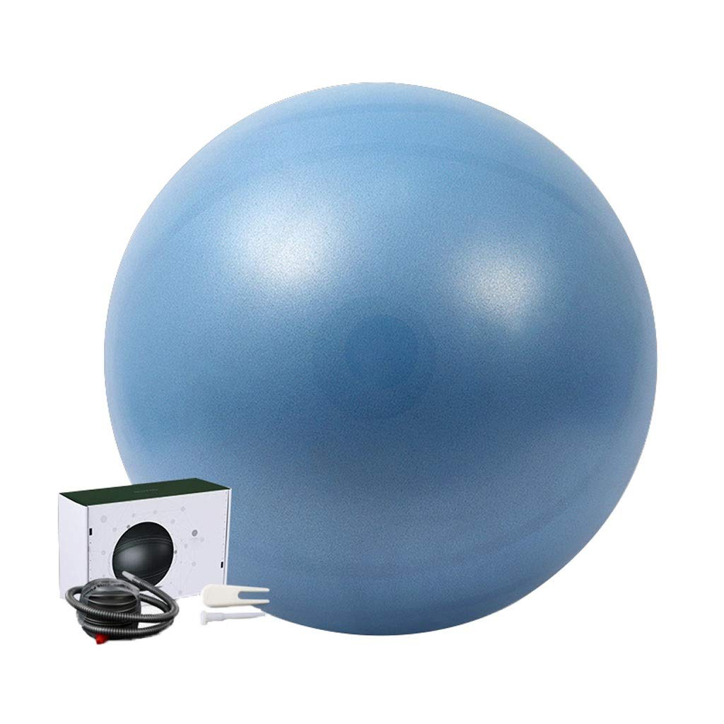 Exercise Ball,Anti-Burst Ball Chair Sizes Air Pump Included Swiss Balls Gym-Quality for Fitness Birthing Pregnancy Core Training and Physical Therapy (Color : Blue, Size : 65cm)