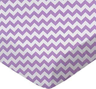 product image for SheetWorld Fitted Bassinet Sheet - Lilac Chevron Zigzag - Made In USA