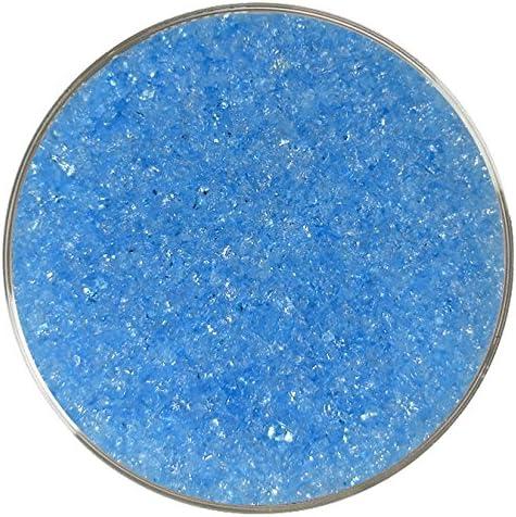 Made from System 96 Glass 8oz 96COE Aqua Blue Iridescent Medium Frit